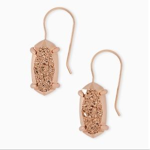 • Kendra Scott • Rose Gold Harrison Drop Earrings